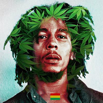 Cool Lion Digital Art - Bob Marley  by Hector Cabrera