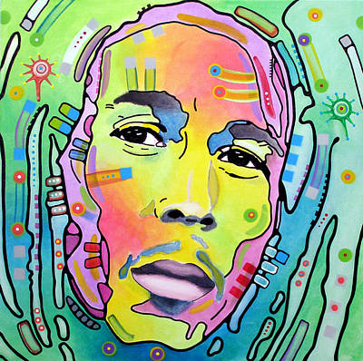 Acrylic Pop Art Painting - Bob Marley I by Dean Russo