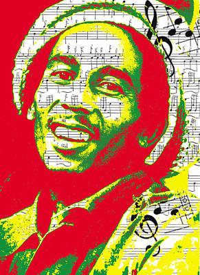 Rasta Digital Art - Bob Marley Musical Legend by Brad Scott