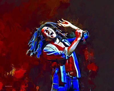 I Am Legend Digital Art - Bob Marley Portrait by Scott Wallace
