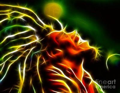 Rasta Mixed Media - Bob Marley by Pamela Johnson