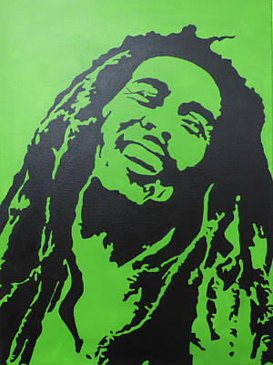 Bob Marley Abstract Painting - Bob Marley Pop Art by Nick Randolph