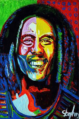 Rasta Painting - Bob Marley by Stephen Humphries