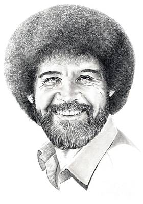 Bob Ross Drawing - Bob Ross by Murphy Elliott