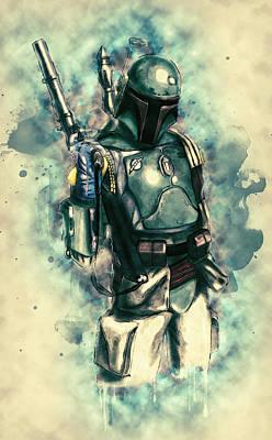 Astronauts Digital Art - Boba Fett by Taylan Soyturk