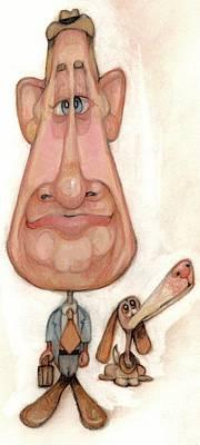 Bobblehead No 52 Print by Edward Ruth
