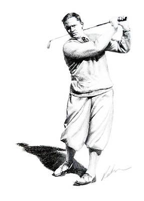 Bobby Jones Sketch Print by Mark Robinson