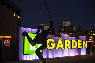 Bobby Orr Statue Td Garden Boston Ma Print by Toby McGuire