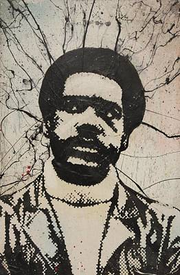 Misfits Mixed Media - Bobby Seale - Black Panther by Dustin Spagnola