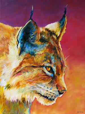 Bobcat In Wait Print by Robert Pankey