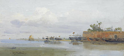 Estuary Painting - Bocca D'arno by William Hulton