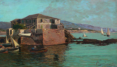 Italian Landscape Painting - Boccadasse by Andrea Figari