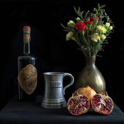 Wine Bottle Paining Photograph - Bodegon by Hans Wolfgang Muller Leg