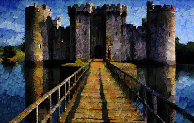 Manipulation Photograph - Bodiam Castle by Mario Carini