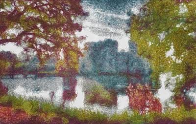 Photograph - Bodiam Castle Threads by Mario Carini