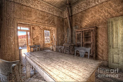 Bodie Harvest Table Print by Rich Governali
