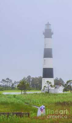 Rainy Day Photograph - Bodie Island Lighthouse Rainy Day by Randy Steele