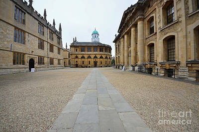 Library Photograph - Bodleian Library by Stephen Smith