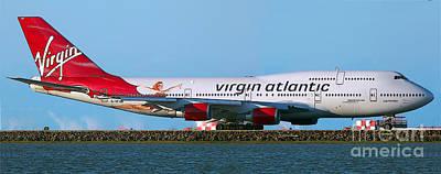 Boeing 747-4q8 Virgin Atlantic Lady Penelope At Sfo Print by Wernher Krutein