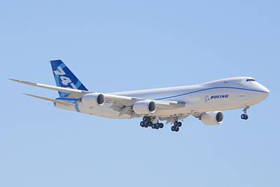 Boeing 747 Photograph - Boeing 747-8 N50217 Landing by Brian Lockett