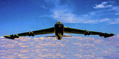 Photograph - Boeing B-52 Stratofortress Oil by Tommy Anderson