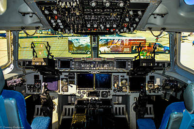 Photograph - Boeing C-17 Globemaster IIi Cockpit by Tommy Anderson