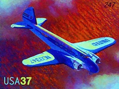 Airliners Painting - Boeing Model 247 by Lanjee Chee