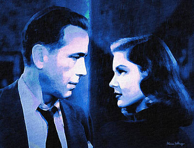 Digital Art - Bogart And Bacall - The Big Sleep by Alicia Hollinger