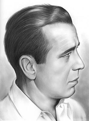 Movie Star Drawing - Bogart by Greg Joens