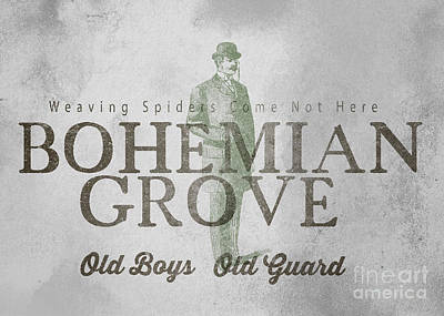 Spider Drawing - Bohemian Grove Sign by Edward Fielding