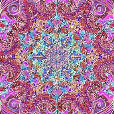 Healing Digital Art - Bohemian Romantic Mandala by Sandrine Kespi