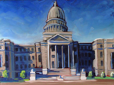 Capitol Building Painting - Boise Capitol Building 02 by Kevin Hughes