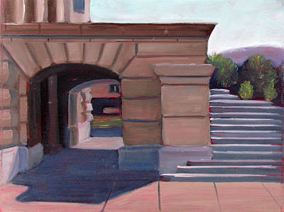 Capitol Building Painting - Boise Capitol Building 04 by Kevin Hughes