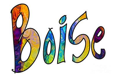 Chakra Rainbow Drawing - Boise Rainbow Graphic Abstract Idaho Art By Omaste Witkowski  by Omaste Witkowski