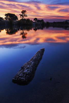 Boise River Sunset Serenity Print by Vishwanath Bhat