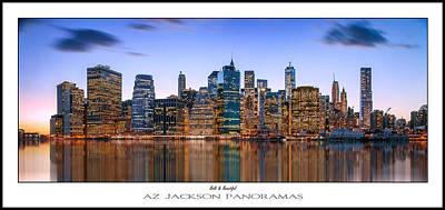 New York Skyline Photograph - Bold And Beautiful Poster Print by Az Jackson