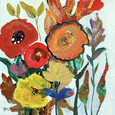 Painting - Bold Brilliant Blooms by Robin Maria Pedrero