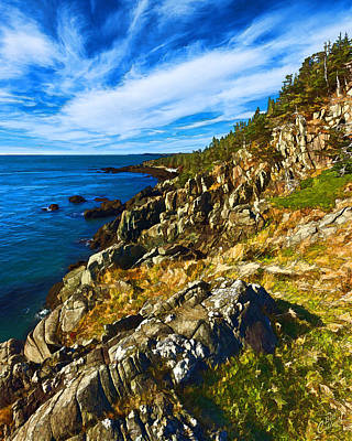 Coastal Maine Photograph - Bold Coast 3 by Bill Caldwell -        ABeautifulSky Photography