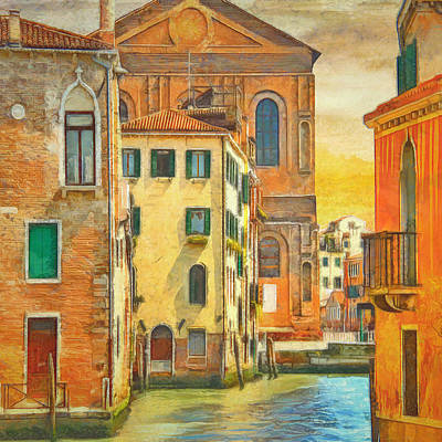 Bold Color Of Venice By L Wright Print by L Wright