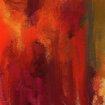 Red Abstract Painting - Bold Colors Abstract Art by Lourry Legarde