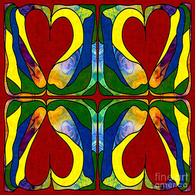 Bold Love Abstract Bliss Art By Omashte Print by Omaste Witkowski