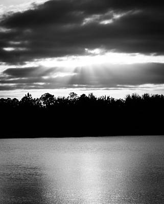 Water Photograph - Bold Rays Monochrome by Parker Cunningham
