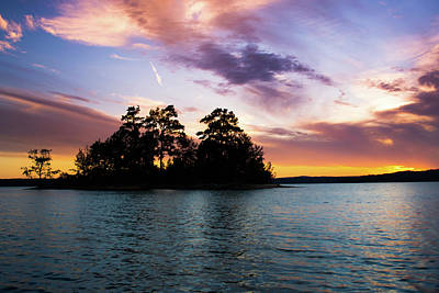 Water Photograph - Bold Sunset Over Lake Martin by Parker Cunningham