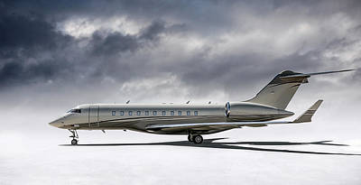 Jet Digital Art - Bombardier Global 5000 by Douglas Pittman