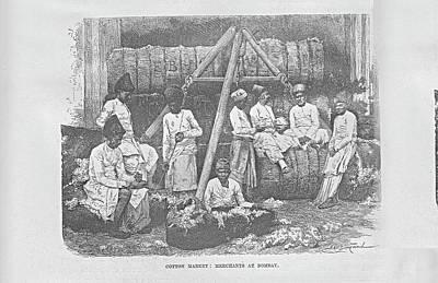 Bombay Cotton Market Original by Angela Lautin