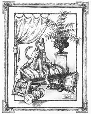 Paper Images Drawing - Bombay Monkey I by Adam Zebediah Joseph