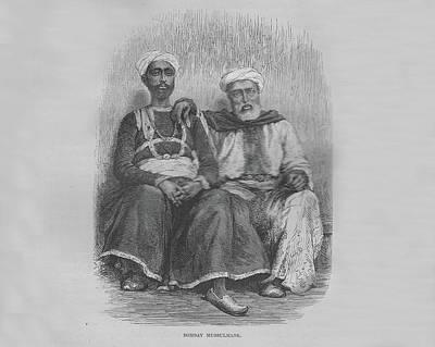 Bombay Mussulmans Bw Original by Angela Lautin