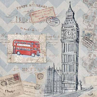 Big Ben Painting - Bon Voyage Iv by Paul Brent
