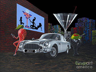 Strawberry Painting - Bond by Michael Godard
