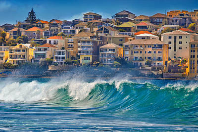 Swollen Photograph - Bondi Waves by Az Jackson